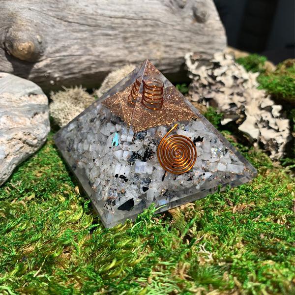 Moonstone Orgonite Pyramid