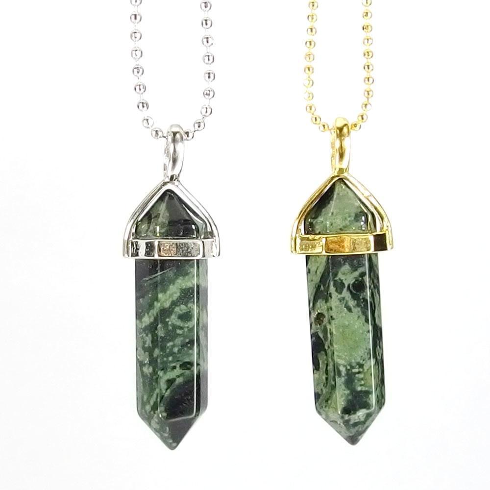 Pendant Necklaces - Kambaba Jasper Gemstone Pendant Necklace