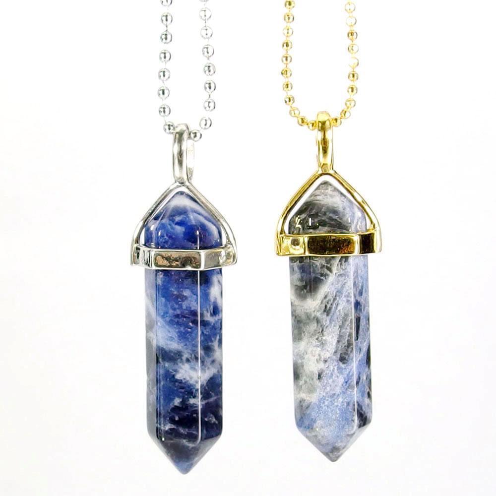 Pendant Necklaces - Sodalite Gemstone Pendant Necklace
