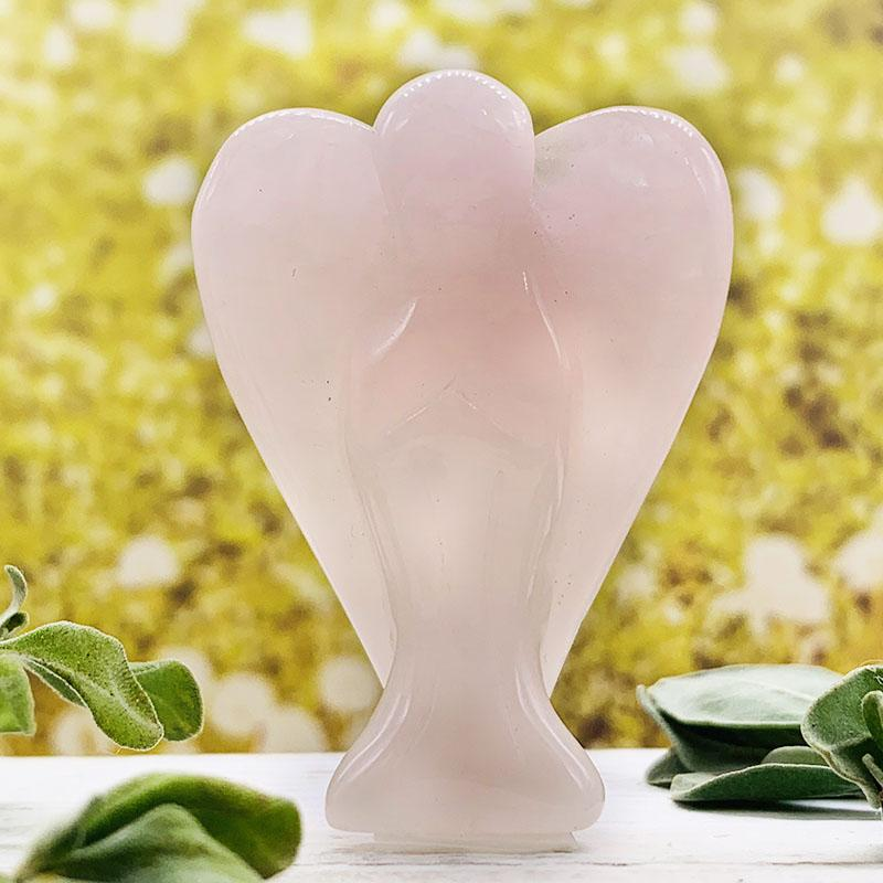 Crystal Angels - Rose Quartz Crystal Angel Protection For Home