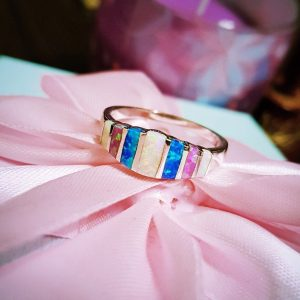 Multi-Colored Fire Opal Ring