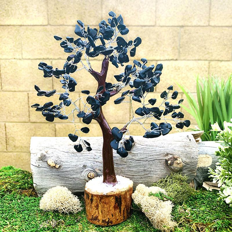 Black Obsidian Feng Shui Gemstone Tree - Large