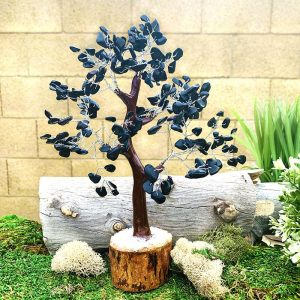 Black Obsidian Feng Shui Gemstone Tree - Large