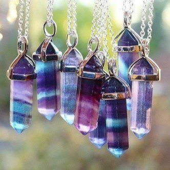 fluorite pendant necklace for protection