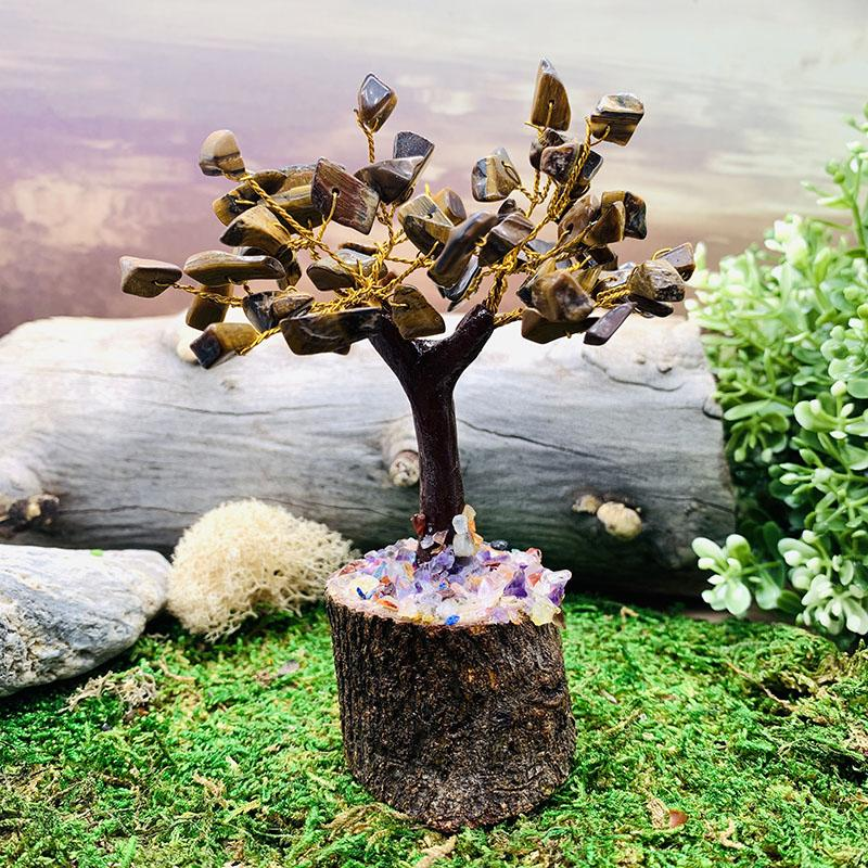 Tiger Eye Feng Shui Gemstone Tree