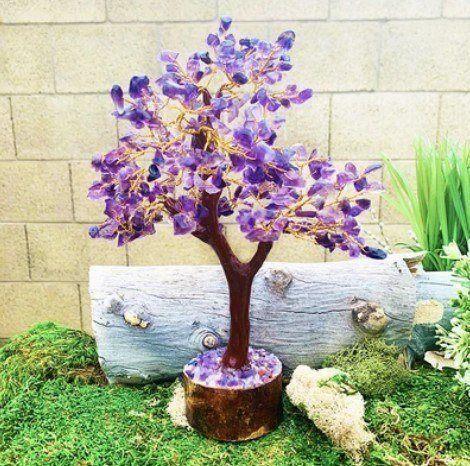 amethyst feng shui gem tree fluorite pairing