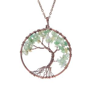 Aventurine Tree of Life Gemstone Necklace