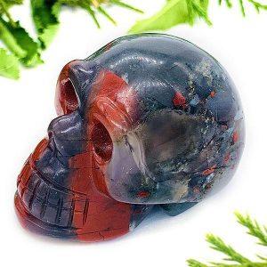 Bloodstone Crystal Skull