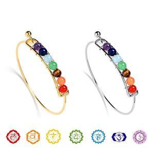 Chakra Crystal Bangle Bracelet