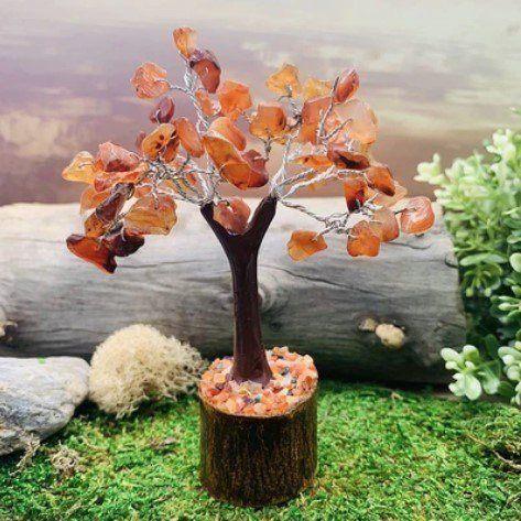 carnelian feng shui gem tree fluorite pairing