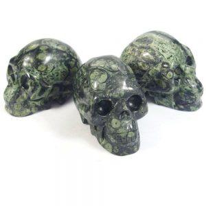 "Kambaba Jasper Crystal Skull (3"")"