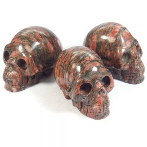 "Rhodonite Crystal Skull (3"")"