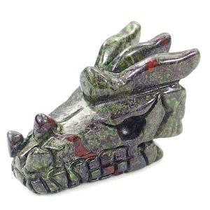 Dragon Blood Jasper Dragon Carving