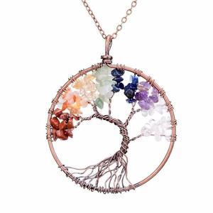 Multi-Stone Tree of Life Gemstone Necklace
