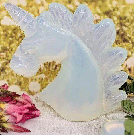opalite crystal unicorn fluorite pairing