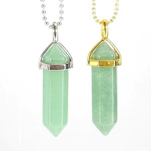 Aventurine Gemstone Pendant Necklace