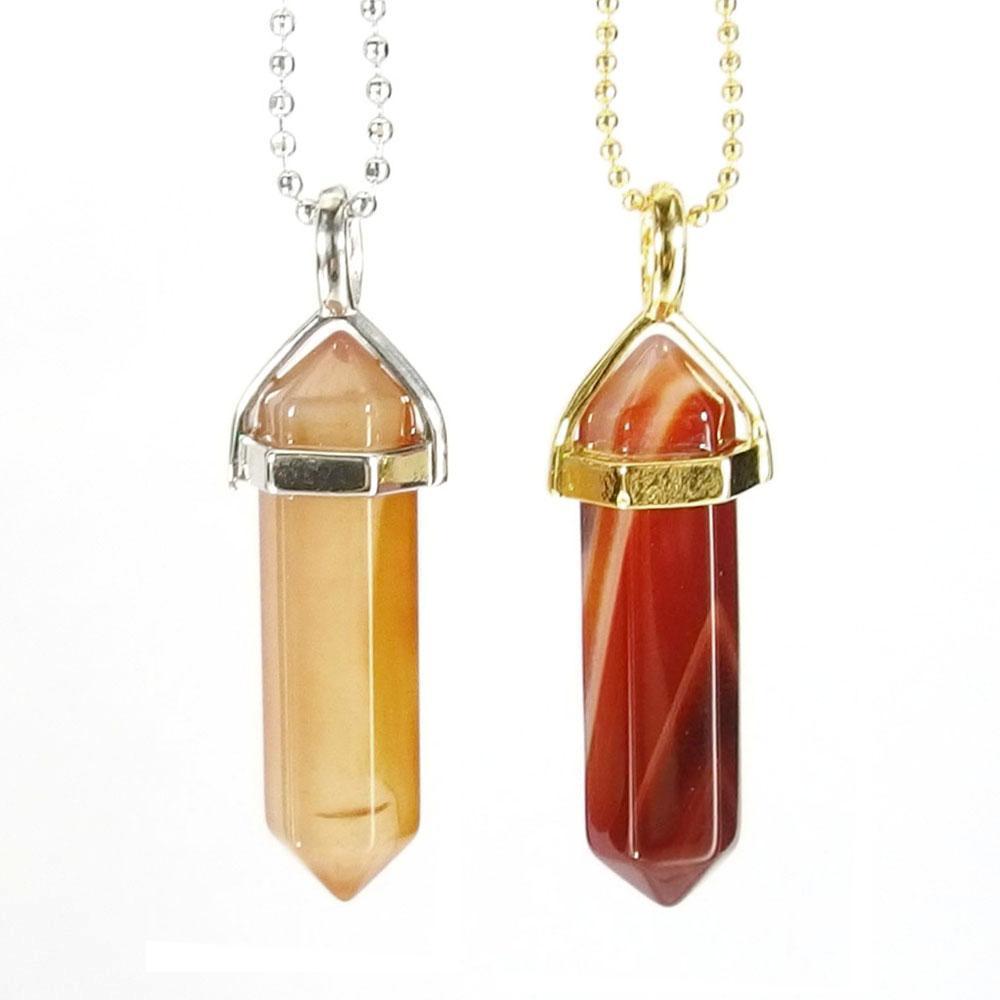 Carnelian Gemstone Pendant Necklace
