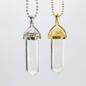Clear Quartz Gemstone Pendant Necklace