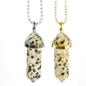 Dalmatian Jasper Gemstone Pendant Necklace