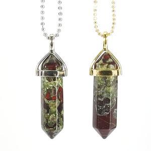 Dragon Blood Jasper Gemstone Pendant Necklace