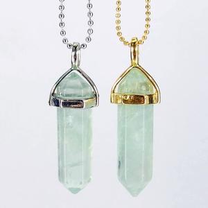 Green Fluorite Gemstone Pendant Necklace
