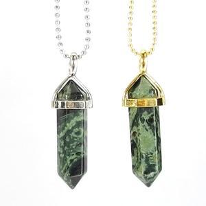 Kambaba Jasper Gemstone Pendant Necklace