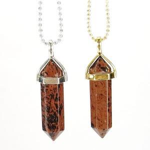 Mahogany Obsidian Gemstone Pendant Necklace