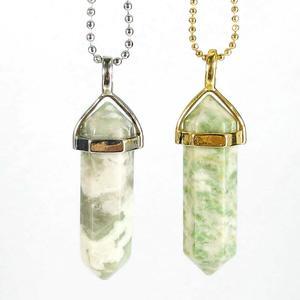 Peace Jasper Gemstone Pendant Necklace