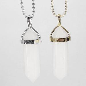 White Jade Gemstone Pendant Necklace