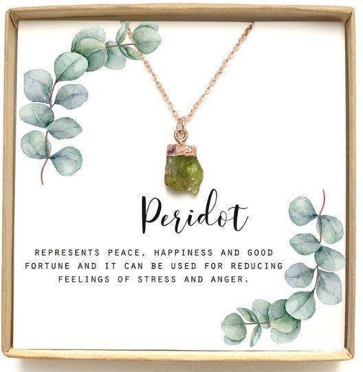 peridot necklace fluorite pairing