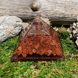 Red Jasper Crystal Orgonite Pyramid