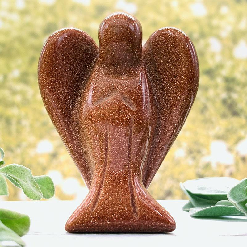 Red Sandstone Crystal Angel