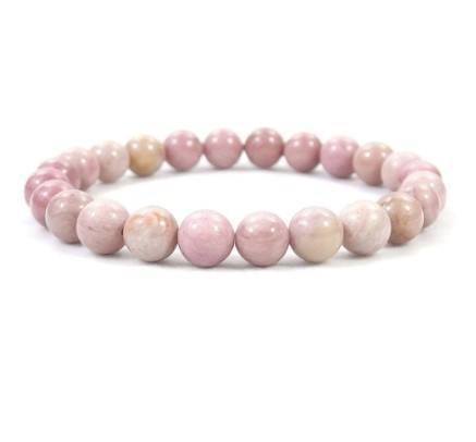 rhodonite beaded crystal bracelet