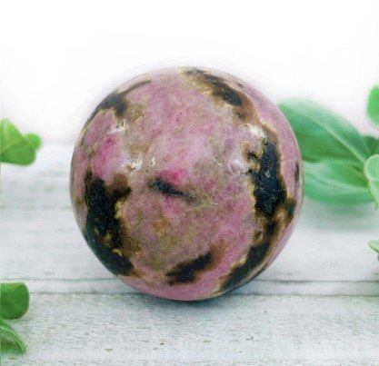 rhodonite crystal ball