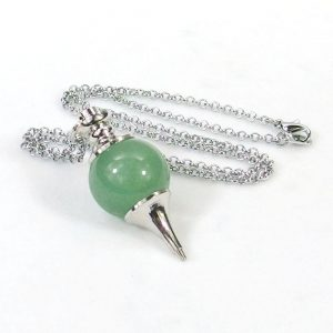 Aventurine Crystal Ball Pendulum Necklace
