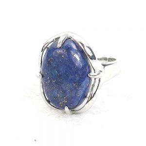 Lapis Lazuli Gemstone Cabochon Ring