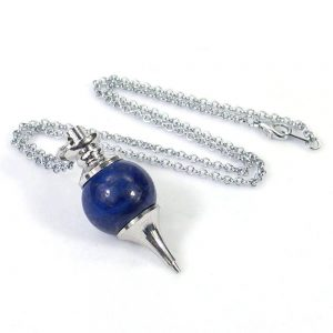 Lapis Lazuli Crystal Ball Pendulum Necklace