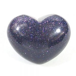 Blue Sandstone Crystal Heart