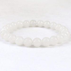 White Jade Beaded Bracelet