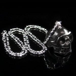Black Obsidian Skull Necklace