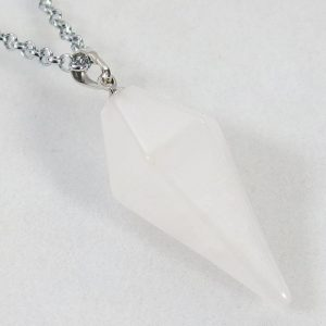 White Jade Pendulum Necklace