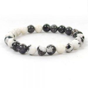 White Zebra Jasper Beaded Bracelet