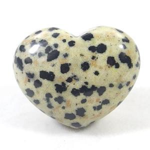 Dalmatian Jasper Crystal Heart