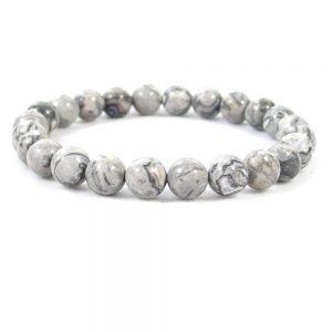 Grey Jasper Beaded Bracelet