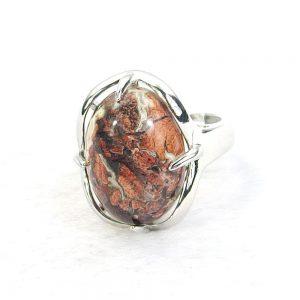 Mahogany Obsidian Gemstone Cabochon Ring