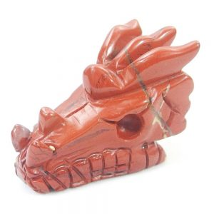 Red Jasper Dragon Carving