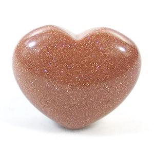 Red Sandstone Crystal Heart