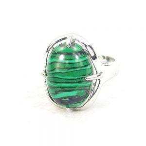 Malachite Gemstone Cabochon Ring