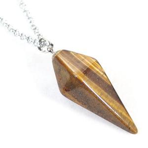 Tiger Eye Pendulum Necklace