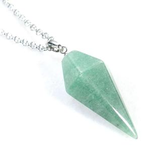 Aventurine Pendulum Necklace